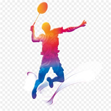 wallpaper border badminton motion graphics badminton players creative png