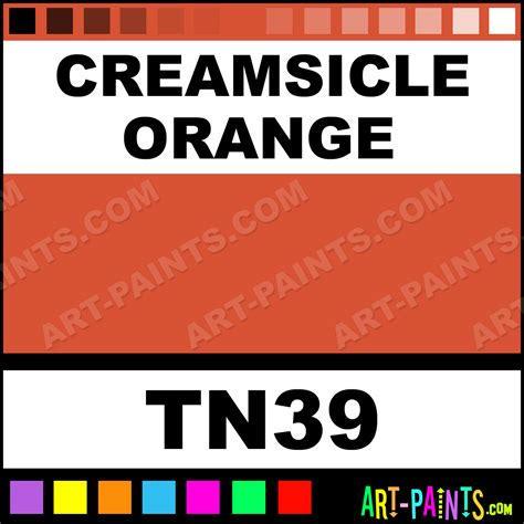 creamsicle orange powder ink paints tn39