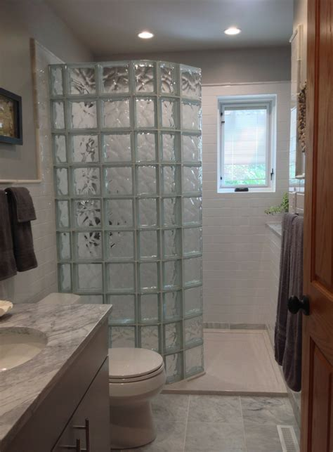 glass block shower designs 5 walk in shower ideas for a tiny bathroom innovate