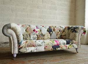 Grace Patchwork Chesterfield Sofa Abode Sofas