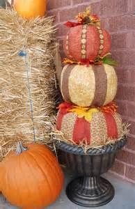 Paper Mache Pumpkin Topiaries