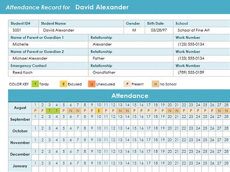 Time And Attendance Tracking Template by 12 Employee Tracking Templates Excel Pdf Formats