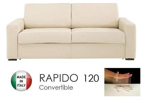 canapé convertible rapido cuir canape convertible rapido 120cm dreamer cuir eco beige