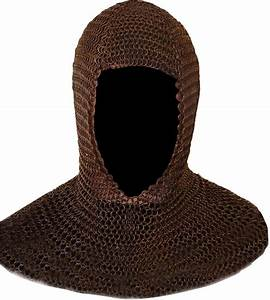 BLACK Metal Medieval Knight CHAINMAIL Chain Mail HOOD ...
