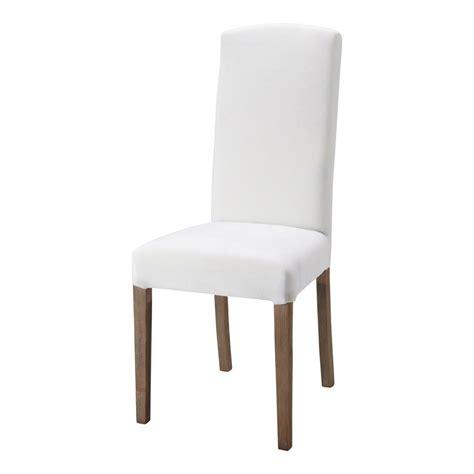 chaise en tissu et bois blanche alice maisons du monde