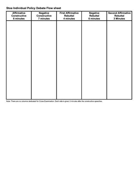 policy debate flow template top debate flow templates free to in pdf format