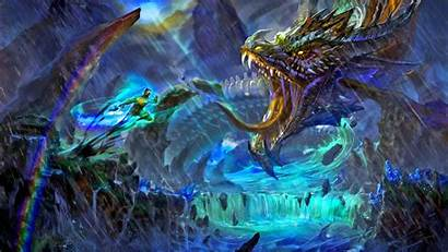 Dragon Water Wallpapers 1080p Backgrounds Epic Wizard