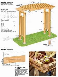 Garden Arbor Plans • WoodArchivist