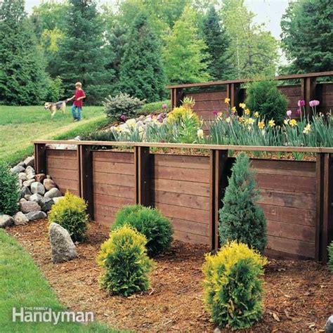 build  treated wood retaining wall  family handyman