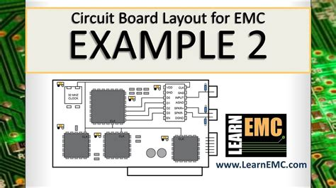 Circuit Board Layout For Emc Example Youtube