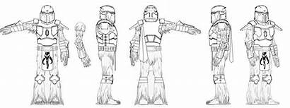 Mandalorian Female Wookiee Wip Coloring Template Pages