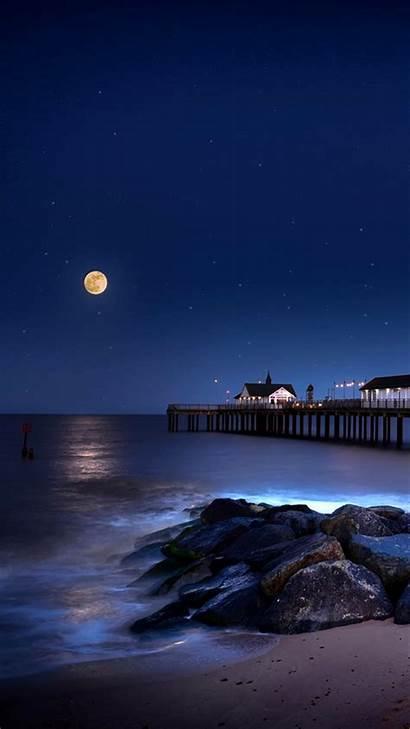 Night Moon Wallpapers Mobile Backgrounds Moonlight Zedge