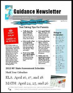 School Counselor Newsletter Templates