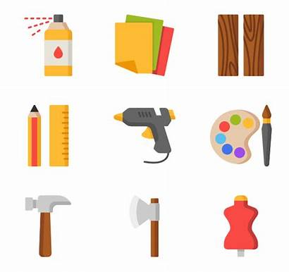 Crafts Handcraft Clipart Icons Sewing Icon Vector