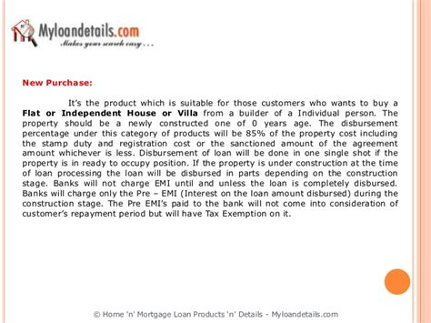 Home N Mortgage Loan Products N Details