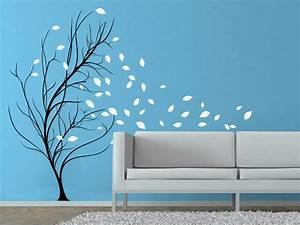 Baum Für Wohnzimmer : wandtattoo baum im wind wandtattoos zweifarbig von ~ Michelbontemps.com Haus und Dekorationen