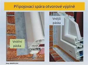Připojovací spára okna
