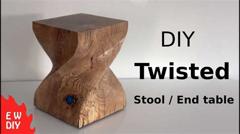 Diy Twisted Stool / End Table