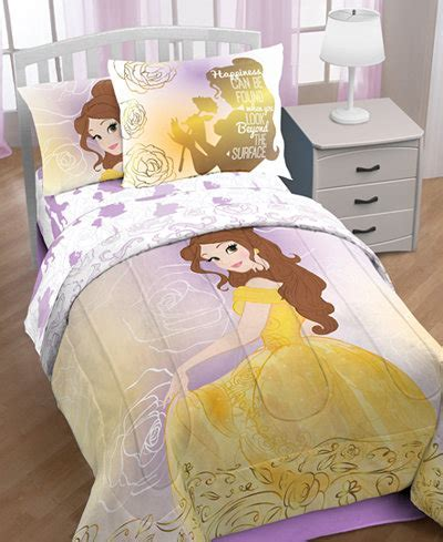 "Disney's Beauty & The Beast ""Belle En Rose"" 7 Pc. Comforter Sets Bed in a Bag Bed & Bath"