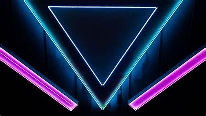 Neon Triangle Shape 4k Background Uhd 1080p