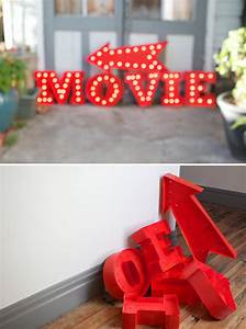 make vintage marquee letters out of poster board party With movie marquee letters