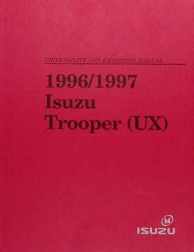service and repair manuals 1997 isuzu trooper auto manual 1997 isuzu trooper repair shop manual 2 book set 97