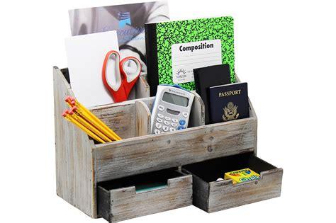 Office Desk Rack by Vintage Rustic Wooden Office Desk Organizer Mail Rack For