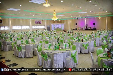 theme mariage couleur présentation de la décoration couleur vert de la salle elysée mariage