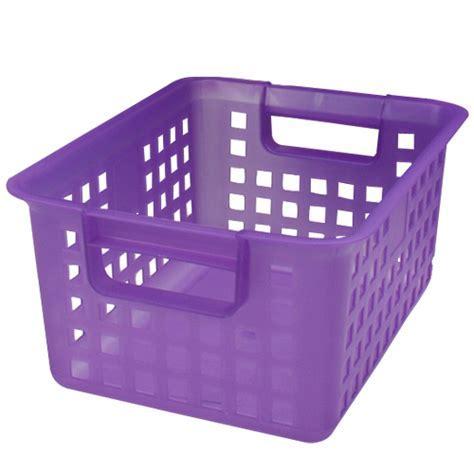 Iris Plastic Mesh Storage Basket   Purple in Wire Baskets