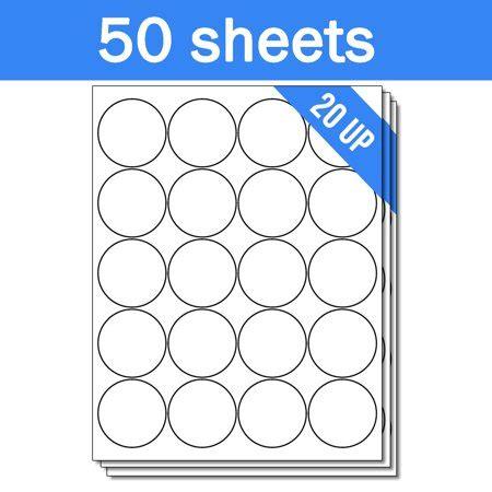 1 Inch Diameter Labels Inkjet Printers Officesmartlabels Circle Dot 2 Inch Diameter