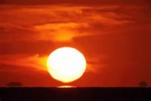 Bright Big Sun On The Sky Royalty Free Stock Photo - Image ...