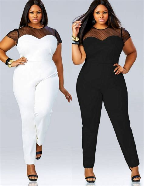 5 ways to wear a plus size white jumpsuit without looking frumpy - curvyoutfits.com