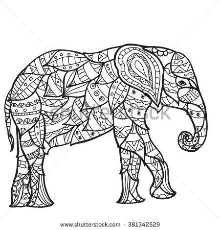 adult elephant isolated stock vectors vector clip art