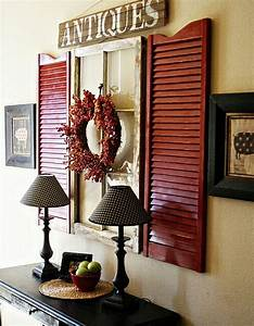 Shutter and window wall decor home