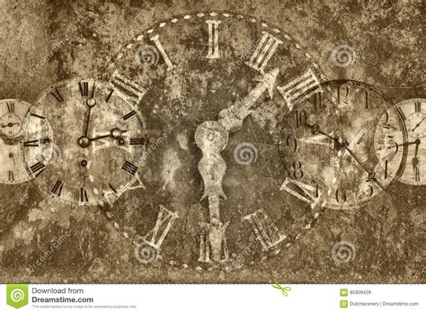 Rusty Antique Clocks Royalty-free Stock Photo