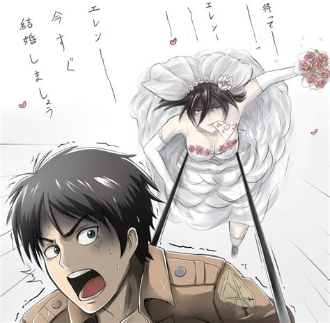 make your own wedding album attack on titan eren and mikasa mikasa ackerman