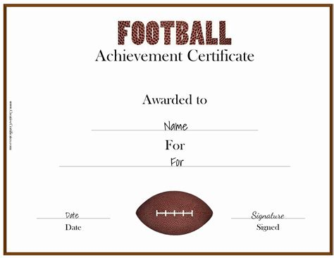 Football Certificate Templates by Free Custom Football Certificates