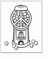 Coloring Pages Peace Gumball Machine Printable Sign Template Print Pdf sketch template