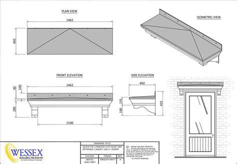 lynwood  series  replica lead flat roof canopies