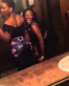 two black girls twerking in bathroom youtube With girl twerking in bathroom