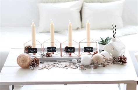 Moderner Adventskranz by Fashiontwinstinct Diy Moderner Adventskranz