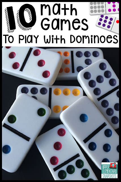 math games  play  dominoes upper elementary