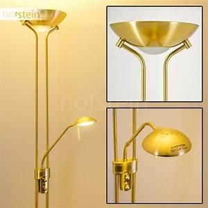 Halogène Led Sur Pied : luminaire lampe sur pied led laiton design liseuse achat ~ Teatrodelosmanantiales.com Idées de Décoration