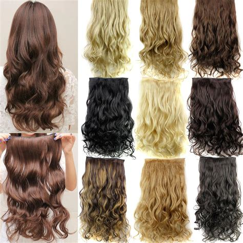Clip In Hair Extensions 5 Clips Synthetic Hairpieces