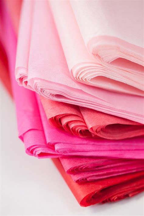 Neon Hot Pink Tissue Paper 24 Sheets  20 Inch X 30 Inch