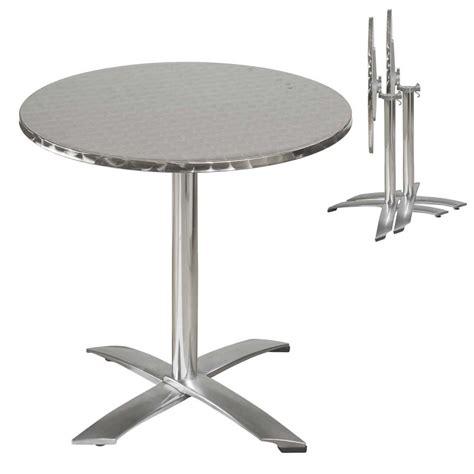 table de ronde table ronde et chaise terrasse aluminium mobeventpro mobilier de restauration