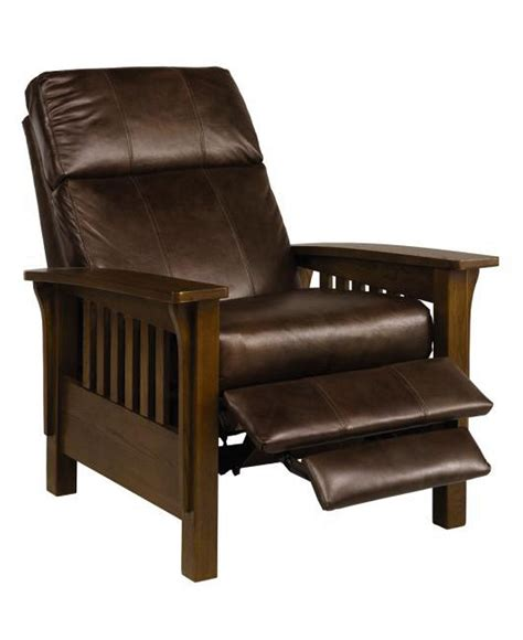 Office Chairs Macys by Nicolas Ii Mission Style Leather Recliner Chair 33 Quot W X 40
