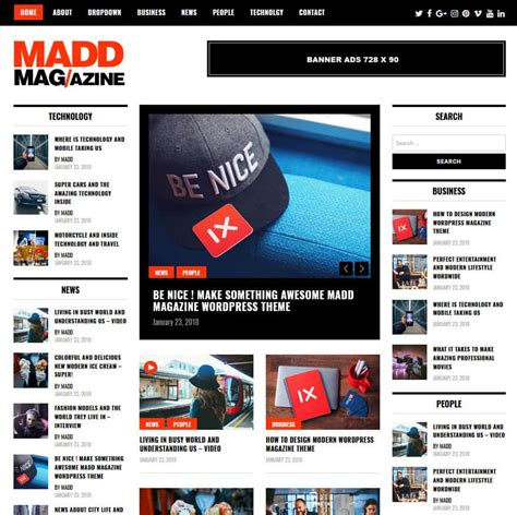 Word Press News Themes 20 Best Free Magazine News Themes 2018