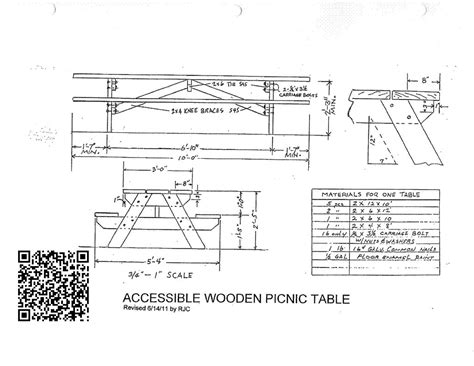 Picnic Bench Dimensions by Ada Compliant Picnic Tables 5 Steps With Pictures