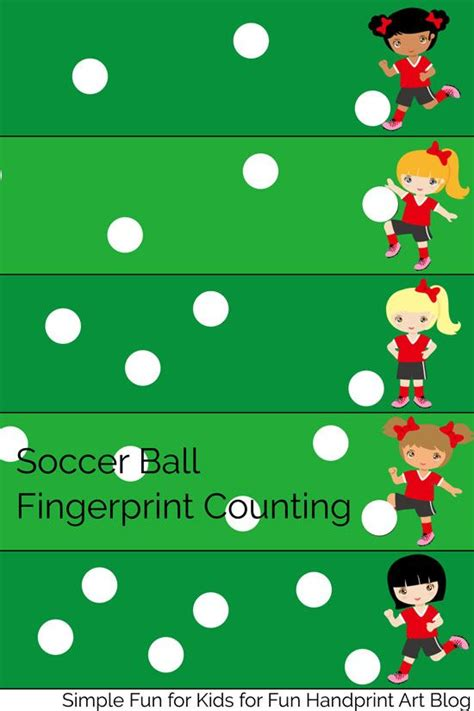 soccer themed fingerprint counting printable 654 | b9bcbf117b6f474435c5d291cbec3885 preschool math activities educational activities